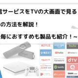 動画配信サービスをTVの大画面で見る4つの方法を解説【おすすめも紹介!】