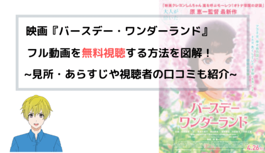 『バースデー・ワンダーランド』劇場版(映画)フル動画を無料視聴する方法を図解!