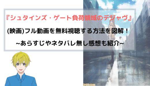 『劇場版 シュタインズ・ゲート』 劇場版(映画)フル動画を無料視聴する方法を図解!