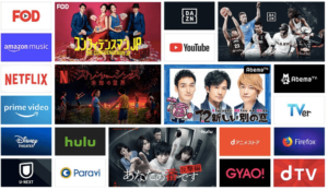 Fire stick TV 対応動画配信サービス