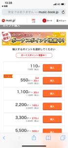 music.jp ポイント購入画面 (1)