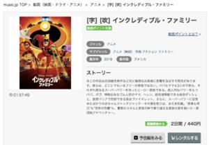 インクレディブルファミリー music.jp 作品紹介