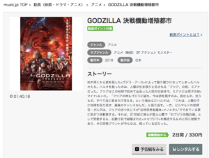 GODZILLA 決戦機動増殖都市 music.jp 作品紹介画像