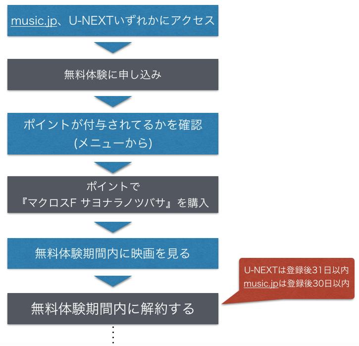 『劇場版マクロスF サヨナラノツバサ』映画フル動画を無料視聴方法の図