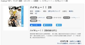 ハイキュー!! 漫画28巻 music.jp 作品紹介