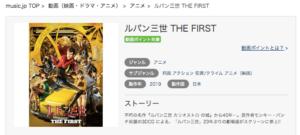 ルパン三世 THE FIRST 映画 music.jp 動画作品