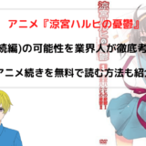 『涼宮ハルヒの憂鬱 3期(続編)』のアニメ化可能性を業界人が徹底考察!