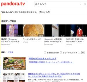 アニメ あたしンち Pandora tv 無料動画配信状況