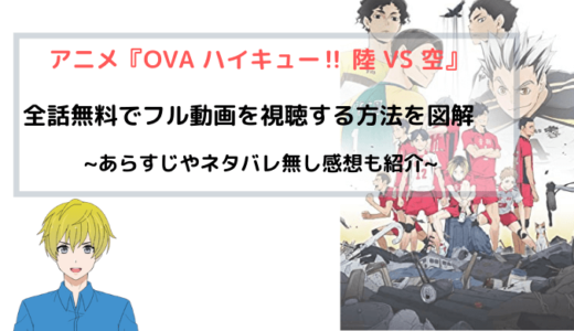 アニメ『ハイキュー!! OVA 陸VS空』全話無料でフル動画を視聴する方法を図解