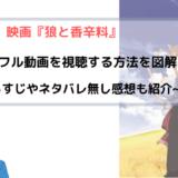 アニメ『狼と香辛料』全話無料でフル動画を視聴する方法を図解!~1~2期が見放題~