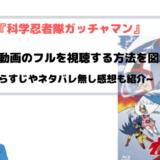 アニメ『科学忍者隊ガッチャマン』全話無料動画のフルを視聴する方法を図解