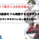 アニメ 新テニスの王子様 全話無料動画でフル視聴できる方法まとめ