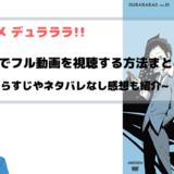 アニメ『デュラララ!! 1期2期』全話無料でフル動画視聴!B9やアニポよりも安全快適に見れる