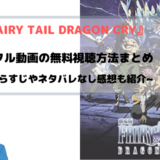 映画『FAIRY TAIL DRAGON CRY』無料でフル動画を視聴する方法を図解~鳳凰の巫女も見れる~